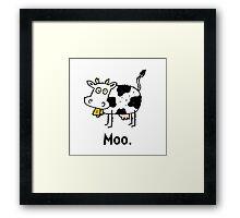 Cartoon Cow Moo Framed Print