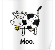Cartoon Cow Moo Poster