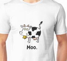 Cartoon Cow Moo Unisex T-Shirt