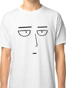 One Punch Man - Saitama OK. - Black on White Classic T-Shirt