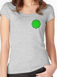 Lime Green Flower Ribbon Women's Fitted Scoop T-Shirt