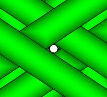 Lime Green Flower Ribbon Sticker