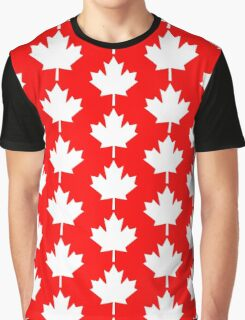Canada Maple Leaf Flag Emblem Graphic T-Shirt