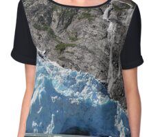 Glacial Blue Women's Chiffon Top