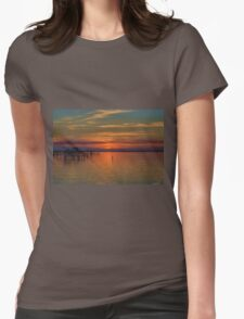 Sunset on the Bay 2 Womens Fitted T-Shirt