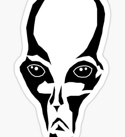 Alien Face Sticker