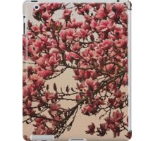 Magnolia Tree In Bloom - Antique Victorian Needlepoint Effect iPad Case/Skin