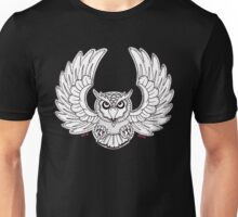 White Flying Owl Unisex T-Shirt