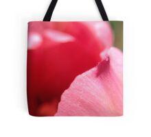 Macro Pink Tulip Petal Tote Bag