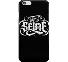 Grunge Goth Tattoo Hand Lettering - Epic Selfie - Black - Be Bold! Calligraphy iPhone Case/Skin