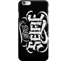 Grunge Tattoo Hand Lettering - Epic Selfie - Black Goth Calligraphy iPhone Case/Skin