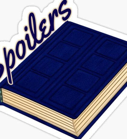 Tardis Journal SPOILERS Sticker
