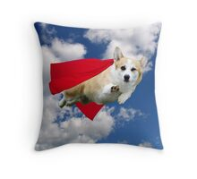 Super Corgi Throw Pillow