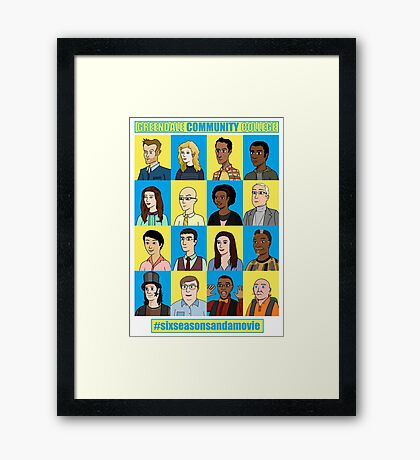 #sixseasonsandamovie Framed Print