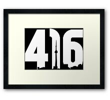 416 logo with Toronto skyline Framed Print