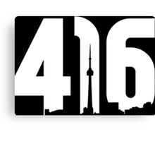 416 logo with Toronto skyline Canvas Print