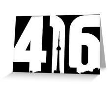 416 logo with Toronto skyline Greeting Card