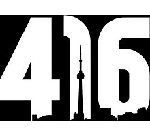 416 logo with Toronto skyline Photographic Print
