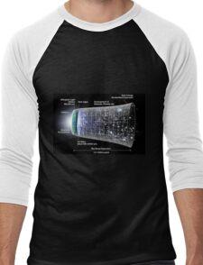WMAP: Our Inflationary Universe Men's Baseball ¾ T-Shirt