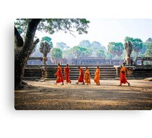 Monks at Angkor Wat, Cambodia Canvas Print