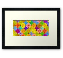 coloured dots Framed Print