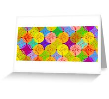 coloured dots Greeting Card