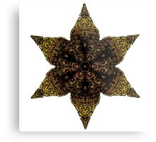 Indian inspired gold star Metal Print
