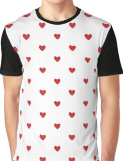 Red love heart knitted for your valentine Graphic T-Shirt