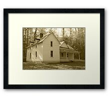 The Woody House Framed Print