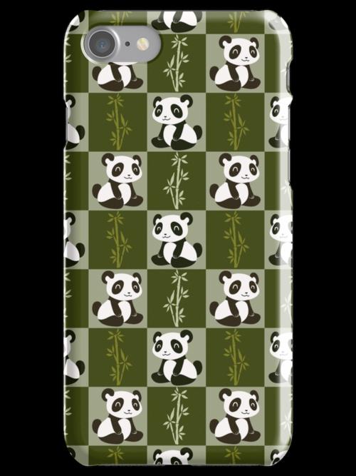 Bamboo Panda Checkered Pattern by SaradaBoru