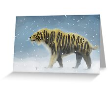 Saber-toothed tiger Greeting Card