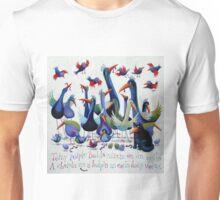 Toity Poiple Boids Unisex T-Shirt