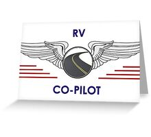 Silver Co-Pilot Wings Help Drive Your Motorhome Greeting Card