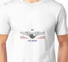 Silver Co-Pilot Wings Help Drive Your Motorhome Unisex T-Shirt