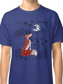 Fox and moon zentangle  Classic T-Shirt
