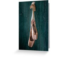 old ballet shoes Greeting Card
