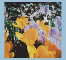 Springtime Crocuses - Diana 120mm Photograph Baby Tee