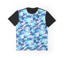 Blue camouflage Graphic T-Shirt
