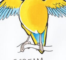 See the Millet, Scream for Millet, Hear the Millet Sticker