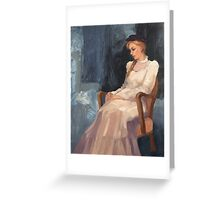 Carmen's White Dress Greeting Card