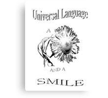 Universal Language Tee Canvas Print