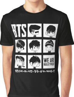 BTS WE ARE BULLETPROOF Chibi Graphic T-Shirt