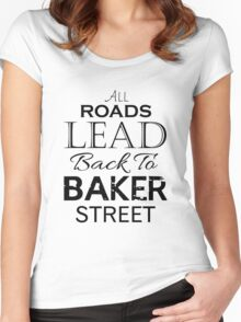 All Roads Lead Back To Baker Street Women's Fitted Scoop T-Shirt