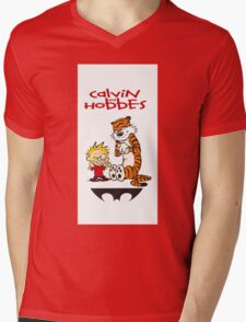 calvin and hobbes 313 Mens V-Neck T-Shirt