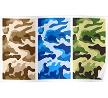 Camouflage colors 2 Poster