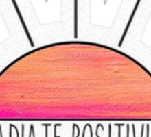 Radiant Positivity Sticker Sticker