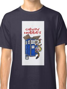 calvin and hobbes police box tardis Classic T-Shirt