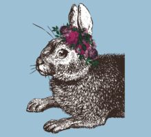 The Rabbit and Roses One Piece - Short Sleeve
