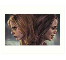 Buffy and Faith Art Print