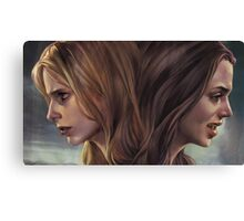 Buffy and Faith Canvas Print